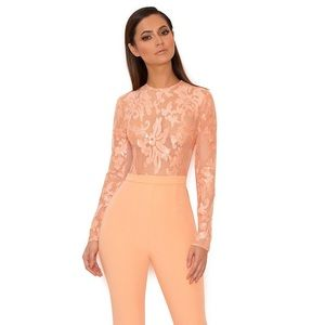 House of CB Perla sequin embroidered jumpsuit XS